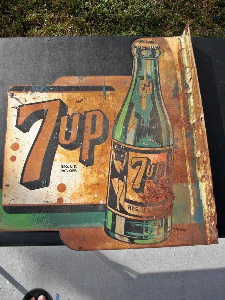 antique vintage old metal signs