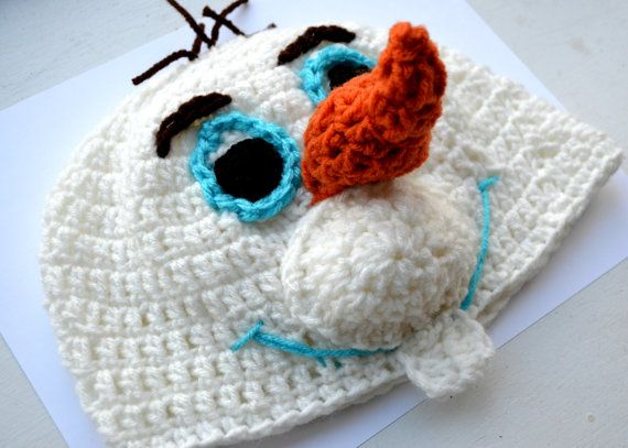 Crochet Snowman Hat Pattern Disney s Frozen Olaf Hat ...
