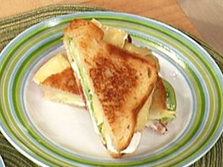 ... Flay's Grilled Brie and Goat Cheese with Bacon and Green Tomato