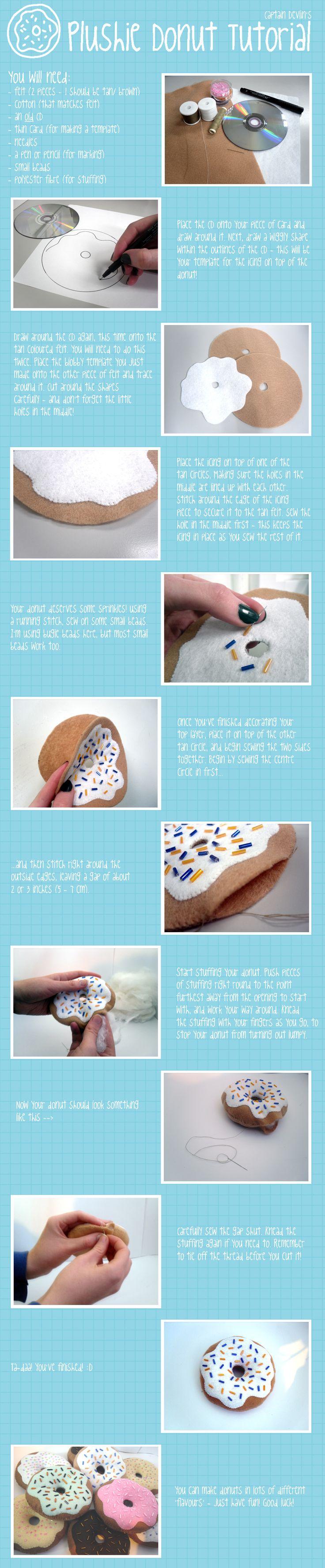 как сшить пончик из фетра