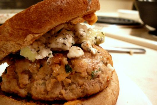 hummus turkey burgers with cucumber feta. * change burgers to ...