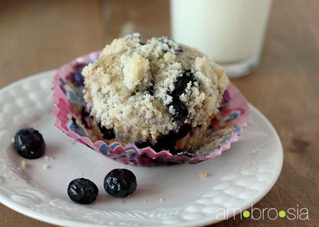 Brown butter blueberry crumb muffins | Bread | Pinterest