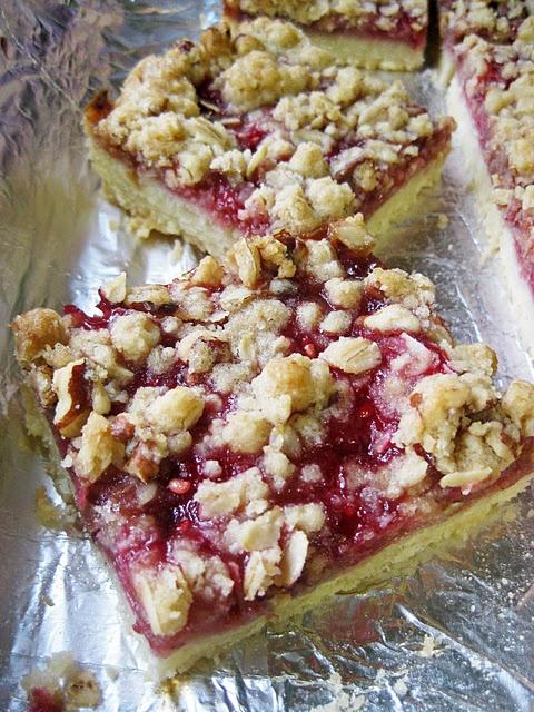 raspberry streusel bars | yummy treats | Pinterest