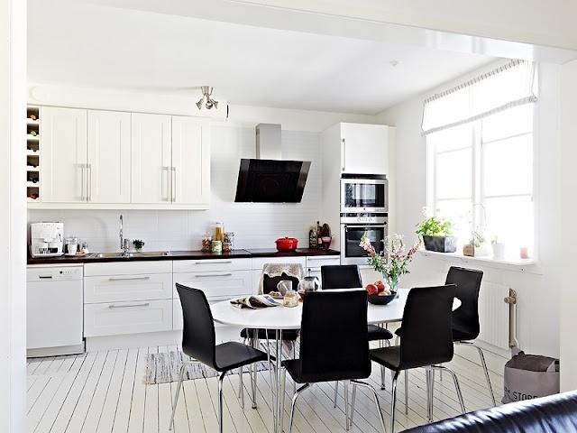 Paikka maailmassa cocinas en blanco y negro pinterest - Cocinas en blanco y negro ...
