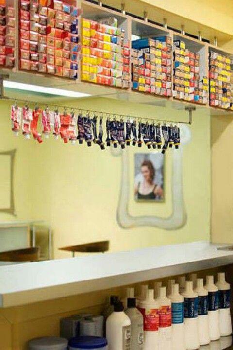Hair color bar | salon room design | Pinterest