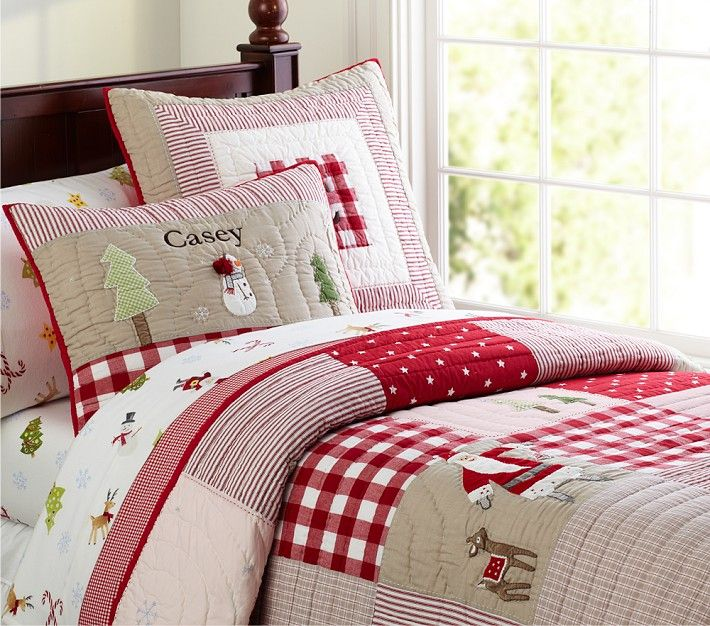 christmas quilts from Pottery Barn. Pottery Barn's expertly crafted collections offer a widerange of stylish indoor and outdoor furniture, accessories, decor and more, for every room in your home.