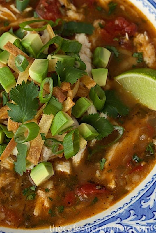 Chicken Tortilla Soup - the real deal! Loaded with authentic flavor ...