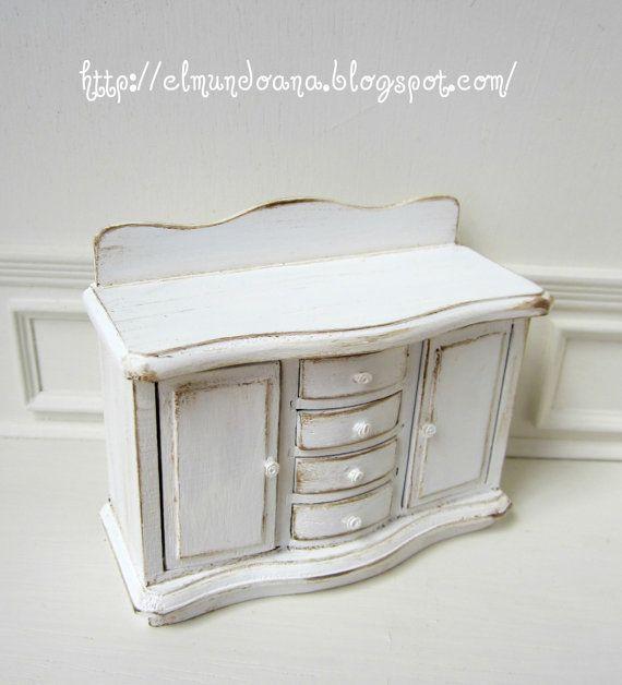 Wonderful  Dollhouse Miniature Furniture White Bathroom Set Miniature Furniture