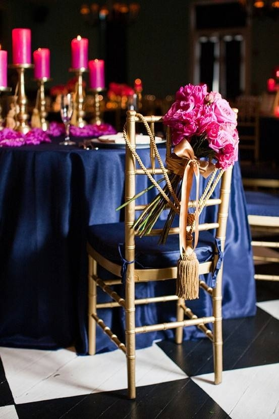 Wedding Decorations Blue And Pink : Pink and blue reception table wedding ideas