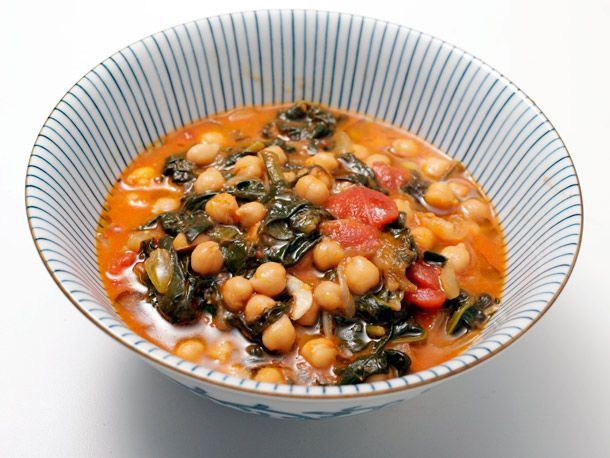 Spanish Chickpea and Spinach Stew. This was great! Easy to cook, and a ...