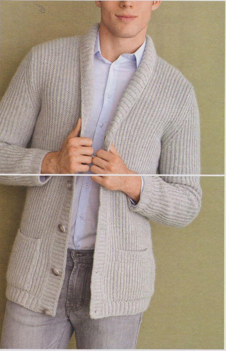 Смотреть вязание спицами для мужчин