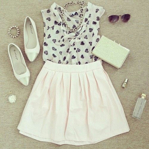 Cute Girly Outfit Outfits Clothes Pinterest
