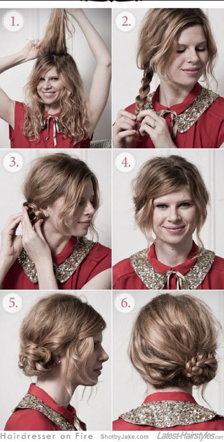 Прически в домашних условиях на волосы по плечи фото