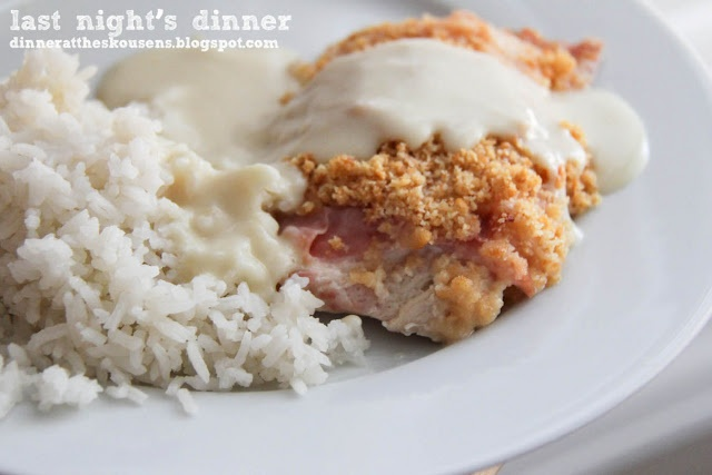 Pork With Red Wine Sauce Adriana Chicken Cordon Bleu I Added About 70gr Parmesan And Dried Basil The Dipping Sauce Was The Leftover Yogurt Sauce With