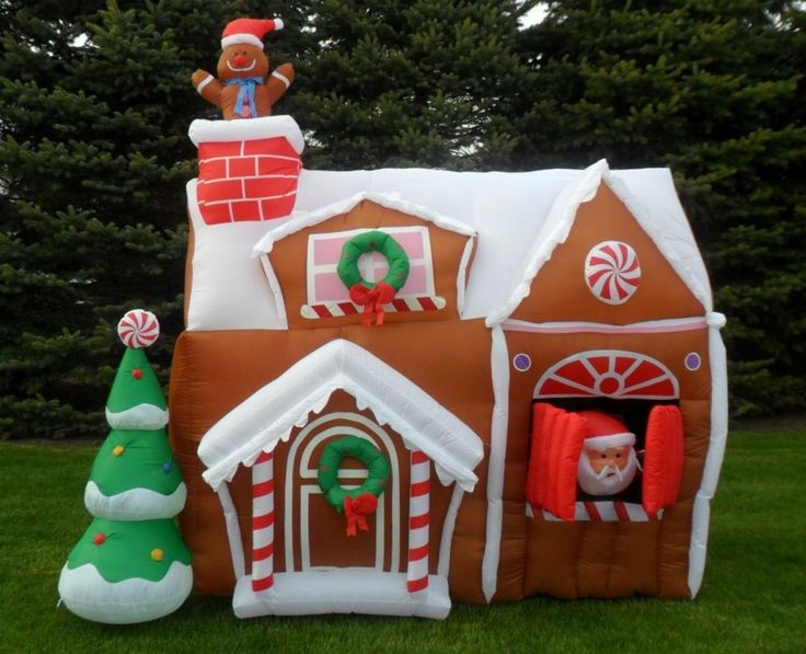 NIB Gemmy 8.5ft Christmas Animated Airblown Inflatable Gingerbread Hou2026