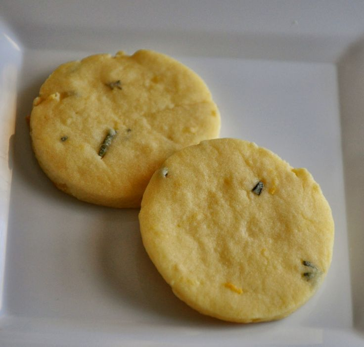 Lemon Rosemary Shortbread Cookies | hello there, sweetie! | Pinterest