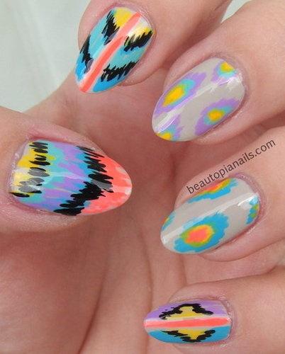 Ikat Nails #Nail #Art