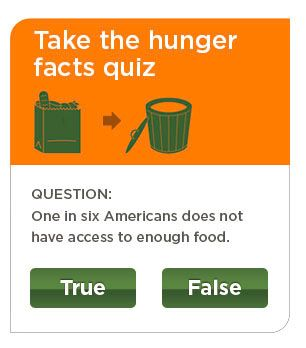 How much do you know about hunger and poverty in the US? Take Feeding America's Hunger Facts Quiz.
