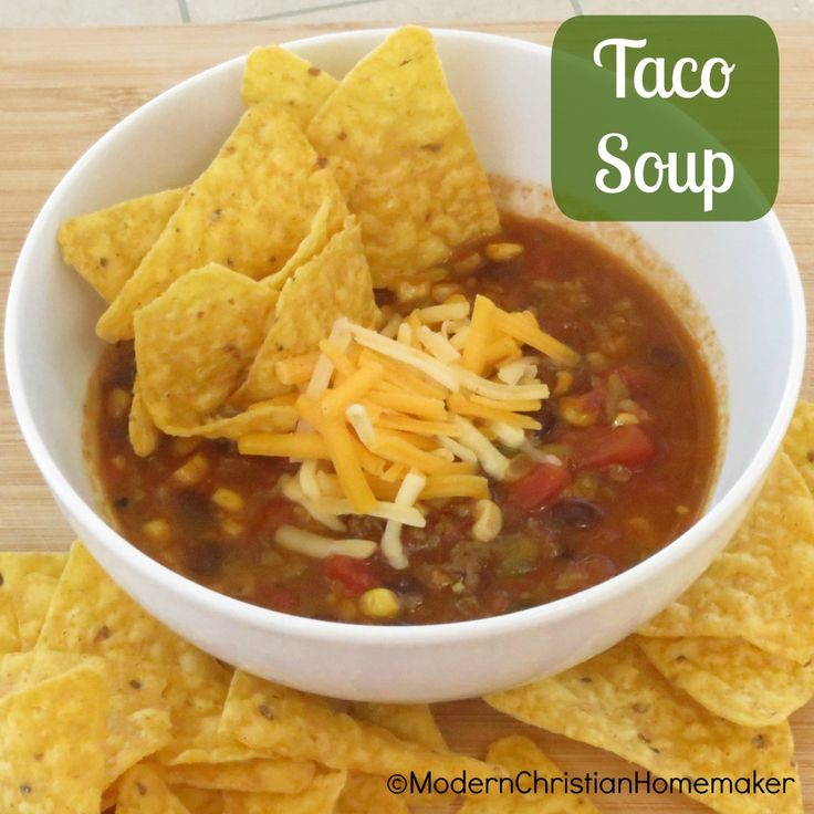 Taco Soup. Use Rotel instead of crushed tomatoes and chiles!! Simpler ...