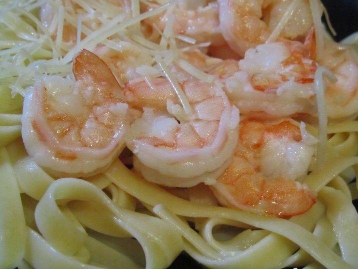 Garlic and Lemon Shrimp with Fettucini | Cooking&Baking | Pinterest
