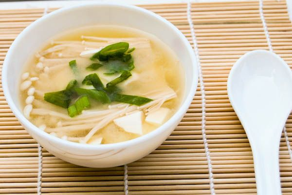Miso Soup with Tofu and Enoki Mushroom | oh so edible... | Pinterest