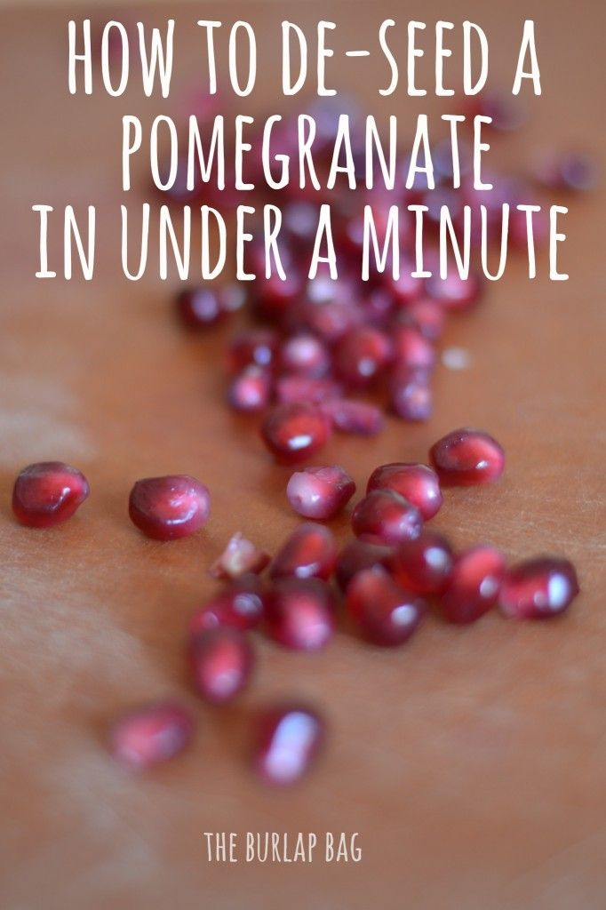 How to de-seed a pomegranate in under a minute! Why have I never known this before?? I love fresh pomegranates!