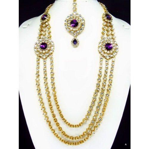 Buy Kundan Choker Necklace Priya Nacc10438c: Heavy Kundan Necklace Set