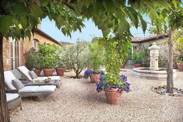 Gorgeous mediterranean courtyard charming mediterranean for Mediterranean courtyard designs