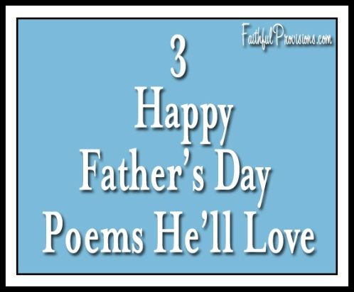 happy fathers day poem from friend