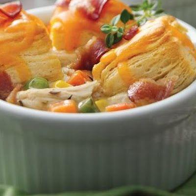 Mini Bacon Chicken Pot Pies | Food | Pinterest