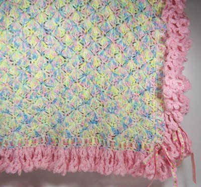 Crochet Chenille Baby Blanket Pattern : Crochet Ruffled Edging ? Quick And Easy Crochet