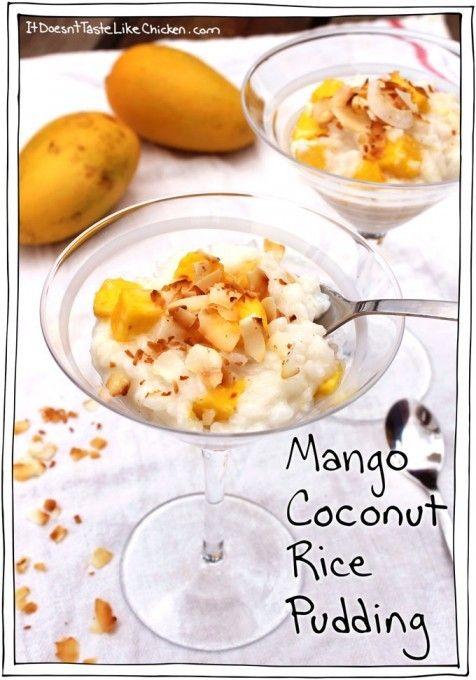 mango-coconut-rice-pudding | GF/DF desserts | Pinterest