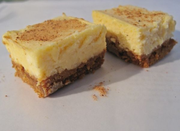 Eggnog Cheesecake Squares | Sweets | Pinterest