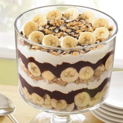 Chocolate Banana Cream Trifle | Food. | Pinterest