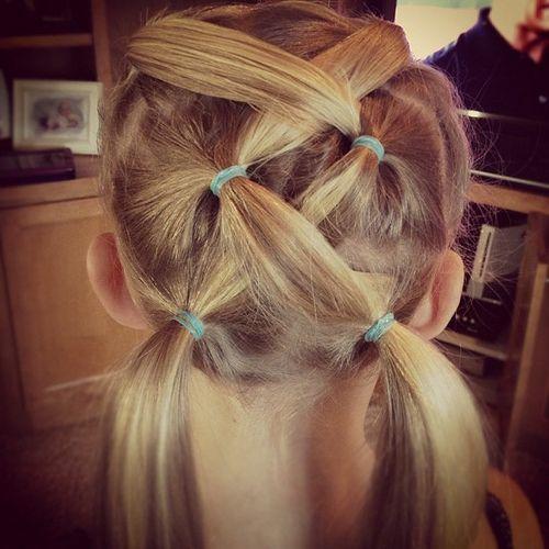 cute hairstyles 2017 : Gymnastics Hair SAMs kids stuff Pinterest