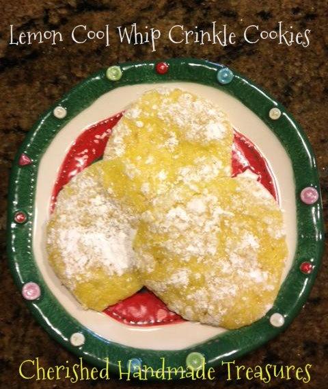 Lemon Cool Whip Crinkle Cookies | Everything cookies | Pinterest