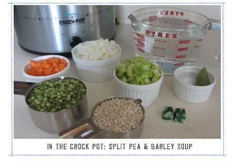 split pea & barley soup slow cooker