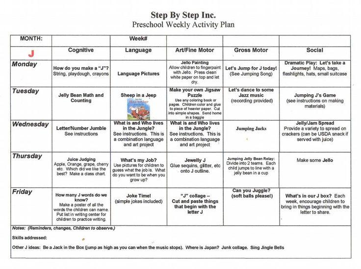 preschool lesson plan template .