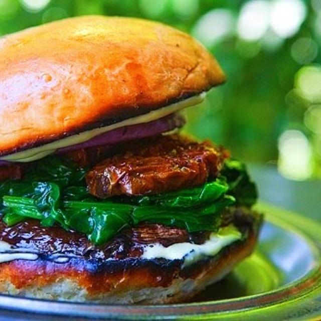 Portobello mushroom burger! Adrian's Fast Good Food :-)