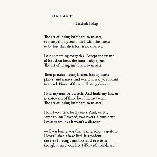 essays on one art by elizabeth bishop