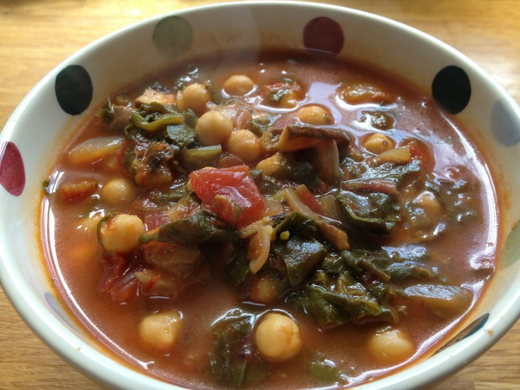 ... : Slightly Spicy Mushroom Chard & Chickpea soup - Day 1 of Fresh Week