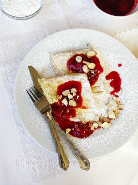 Crepes with Strawberry Orange Compote | Food Ideas | Pinterest