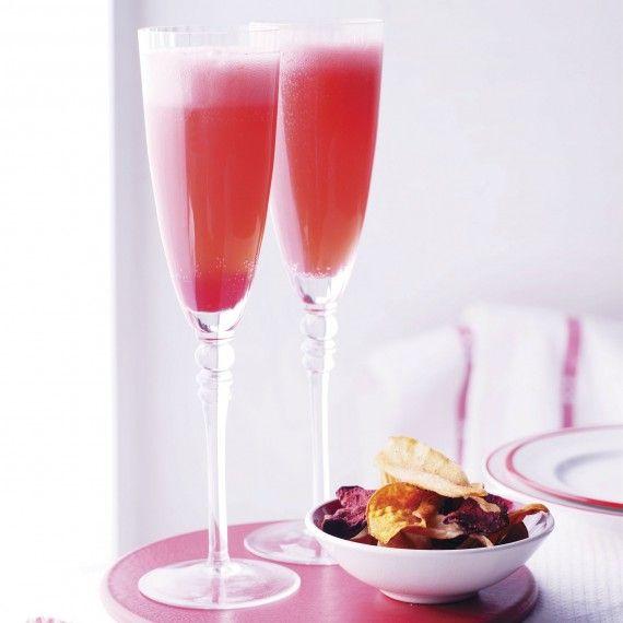 Raspberry champagne   Drinks of Delight   Pinterest