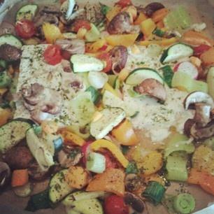 baked goat cheese/vegetables | veggies | Pinterest