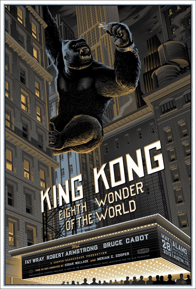 King kong poster by laurent durieux design pinterest - King kong design ...