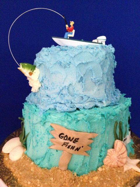 Gone fishing birthday cake ideas 17857 gone fishing cake for Fish cake design