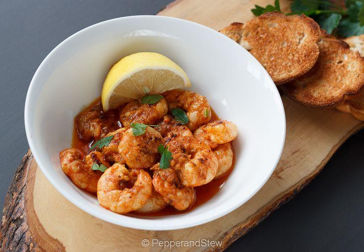 Piri piri prawns. | Pepper and Stew African food | Pinterest