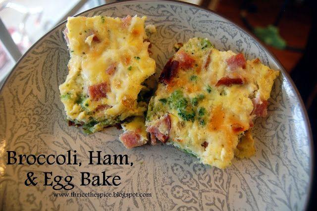 Broccoli, Ham, and Egg Bake - healthy, yummy, easy to make!