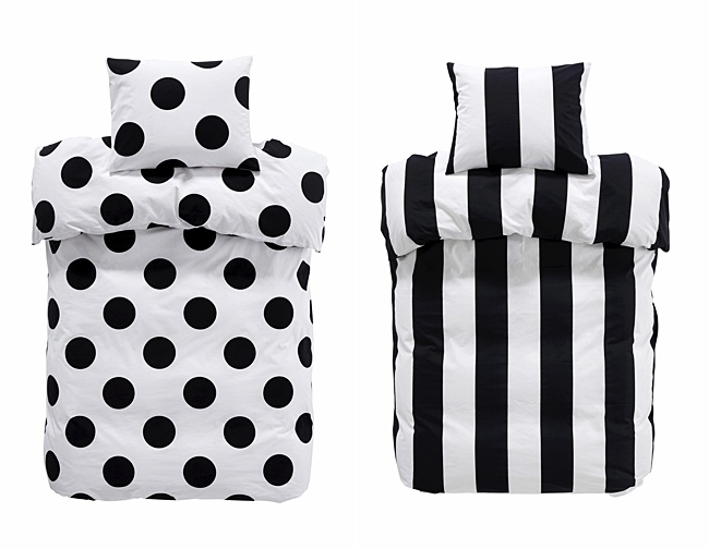 kids bedlinen in black and white from ellos