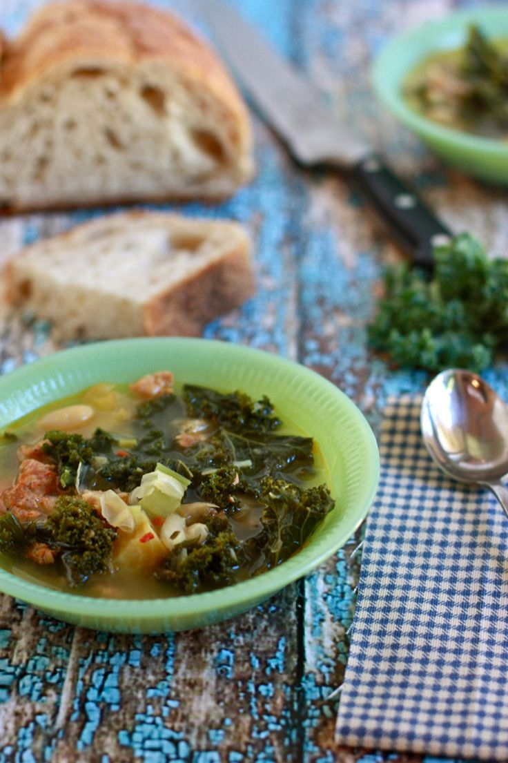 Kale and white bean soup with Golden Beets, Spinach, and Sausage ...